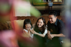 Attractive Asian Family Together Stock Photography