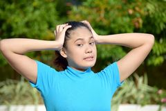 Attractive Asian Female Memory Problems. An attractive and asian person stock images
