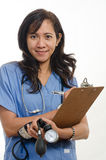 Attractive asian filipino nurse doctor Stock Photos