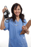 Attractive asian filipino nurse doctor Royalty Free Stock Images