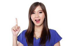 Attractive Asian girl has an idea Royalty Free Stock Image