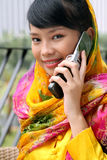 Attractive Asian Girl on the Phone Royalty Free Stock Photography