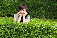 Attractive asian girl smiling Stock Photos