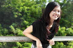 Attractive asian girl smiling Royalty Free Stock Image