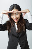 Attractive asian girl 20 years old shot in studio Stock Images