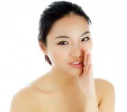 Attractive asian girl 20 years old shot in studio Stock Image