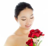 Attractive asian girl 20 years old shot in studio Royalty Free Stock Images