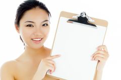 Attractive asian girl 20 years old shot in studio Royalty Free Stock Photos