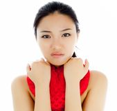 Attractive asian girl 20 years old shot in studio Royalty Free Stock Photography