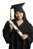Attractive Asian Graduate student Royalty Free Stock Image