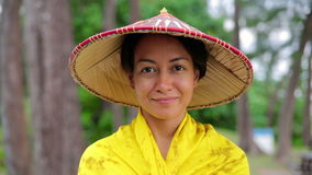 Attractive asian lady with hat Stock Photos