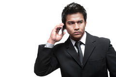 Attractive Asian Man with Phone Royalty Free Stock Photos
