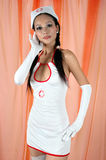 Attractive Asian girl in costume Stock Photo
