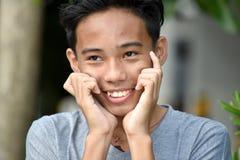Filipino Teenager Boy Afraid royalty free stock photos
