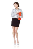 Attractive Asian secretary woman Stock Images