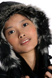 Attractive Asian woman. Portrait of attractive Asian woman wearing a winter vest Stock Images
