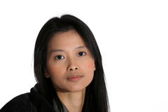 Attractive Asian woman. Portrait of young Asian woman with long hair Stock Image