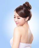 Attractive asian woman face Stock Images