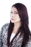Attractive Asian woman isolated over white Stock Photo