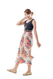 Attractive Asian woman with maxi dresses Royalty Free Stock Image