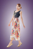 Attractive Asian woman with maxi dresses Stock Images