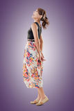 Attractive Asian woman with maxi dresses Stock Photos