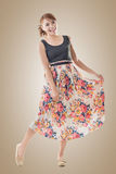 Attractive Asian woman with maxi dresses Stock Image