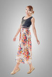 Attractive Asian woman with maxi dresses Royalty Free Stock Photography