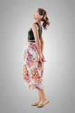 Attractive Asian woman with maxi dresses Royalty Free Stock Photo