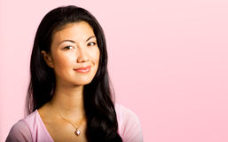 Attractive Asian Woman in Pink Stock Photos