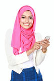 Attractive asian woman using mobile phone Royalty Free Stock Image