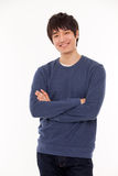 Attractive Asian young man Stock Photography