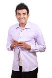 Attractive asian young man wearing cloth Stock Image