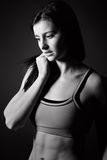 Attractive Athletic Girl in Sportswear Royalty Free Stock Photos