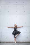 Attractive ballerina posing outdoors Royalty Free Stock Photo