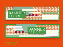 Attractive banners set design Royalty Free Stock Photography