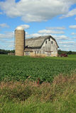 Attractive barn and silo in Wisconsin Royalty Free Stock Photos