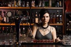 Attractive bartender Stock Image
