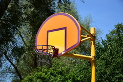 Attractive basketball goal. With chain baslet royalty free stock image