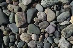 Beach Cobble. Attractive beach cobble textured background royalty free stock photography