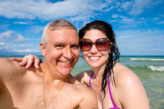 Attractive beach couple Royalty Free Stock Photo