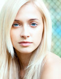Attractive beautiful blonde girl Royalty Free Stock Image