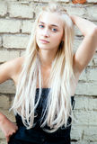 Attractive beautiful blonde girl Royalty Free Stock Images