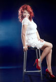 Attractive beautiful redhead woman. Stock Photography