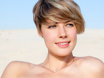Attractive beautiful smiling woman Royalty Free Stock Image