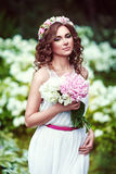 Attractive beautiful woman in greek style Stock Images