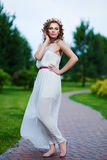 Attractive beautiful woman in greek style Royalty Free Stock Images