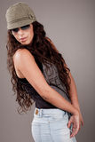 Attractive beautiful young fashion model Royalty Free Stock Image