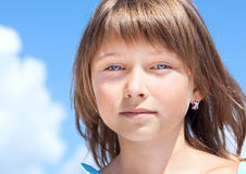 Attractive beautiful young girl Stock Image