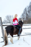 Attractive beautiful young woman in fashionable pullovere winter Stock Image